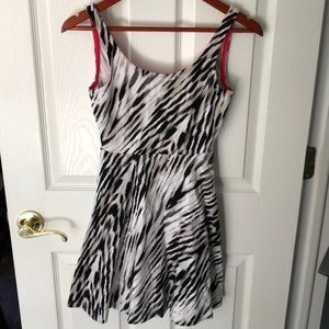 Express zebra print skater dress, size XS